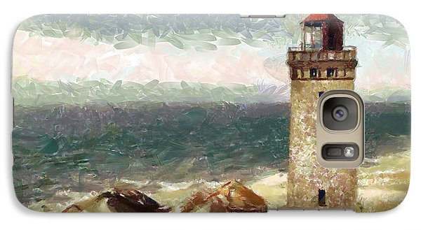 Galaxy Case featuring the painting Old Lighthouse by Georgi Dimitrov