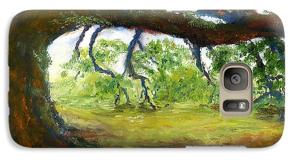 Galaxy Case featuring the painting Old Louisiana Plantation Oak Tree by Lenora  De Lude
