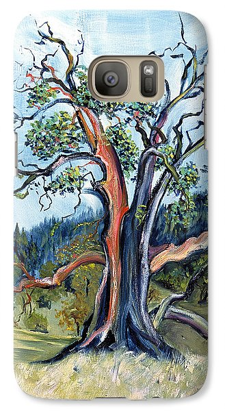 Galaxy Case featuring the painting Old Madrone Tree In November  by Asha Carolyn Young