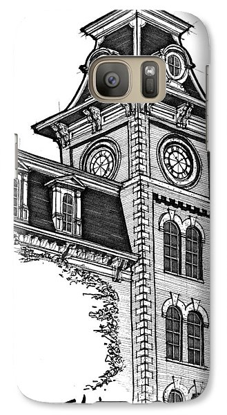 Galaxy Case featuring the drawing Old Main by Calvin Durham