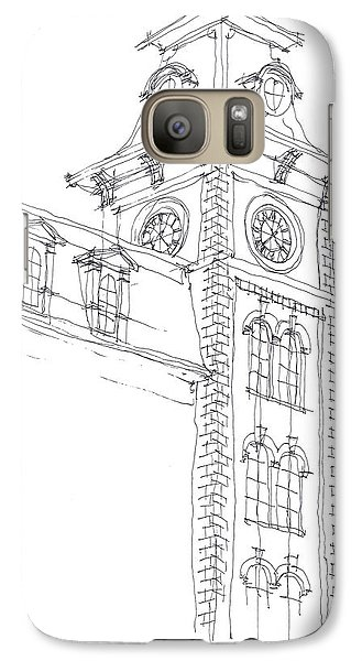 Galaxy Case featuring the drawing Old Main Study by Calvin Durham