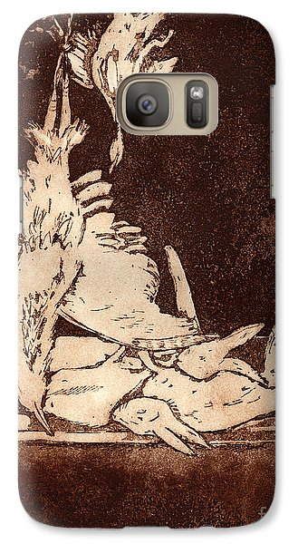 Galaxy Case featuring the painting Old Masters Still Life - With Great Bittern Duck Rabbit - Nature Morte - Natura Morta - Still Life by Urft Valley Art