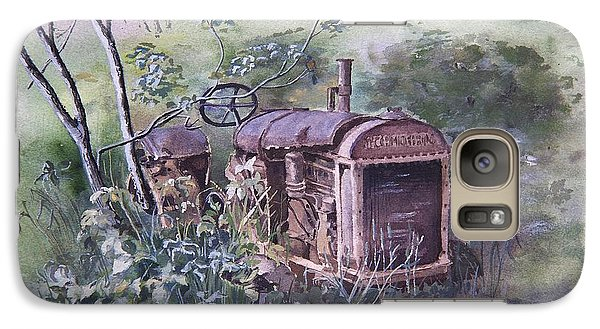 Galaxy Case featuring the painting Old Mccormick Tractor by Susan Crossman Buscho