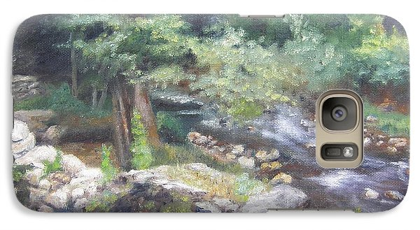 Galaxy Case featuring the painting Old Mill Steam II by Lori Brackett
