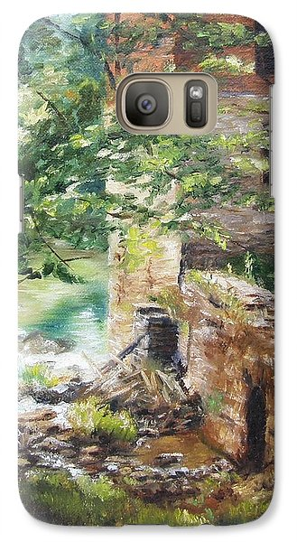 Galaxy Case featuring the painting Old Mill Stream I by Lori Brackett