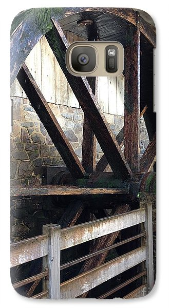 Galaxy Case featuring the photograph Old Mill Water Wheel by Jeannie Rhode