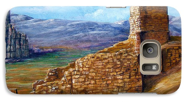 Galaxy Case featuring the painting Old Mission Landscape New Mexico by Lenora  De Lude