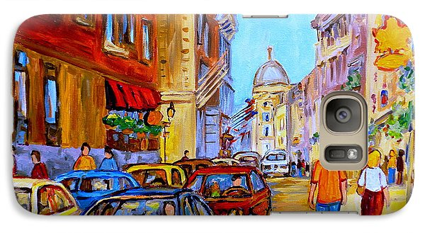 Galaxy Case featuring the painting Old Montreal by Carole Spandau