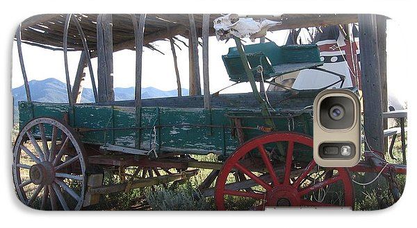 Galaxy Case featuring the photograph Old Native American Wagon by Dora Sofia Caputo Photographic Art and Design
