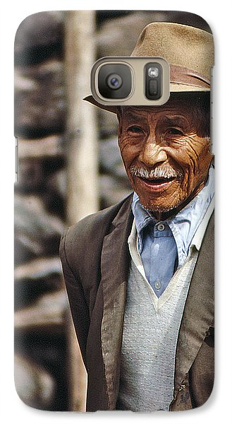 Galaxy Case featuring the photograph Old Peruvian Man by Christopher McKenzie