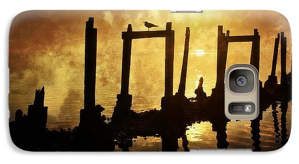 Galaxy Case featuring the photograph Old Pier At Sunset by Marty Koch