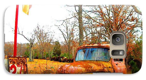 Galaxy Case featuring the digital art Old Pink Truck - Cheap Gas  by K Scott Teeters
