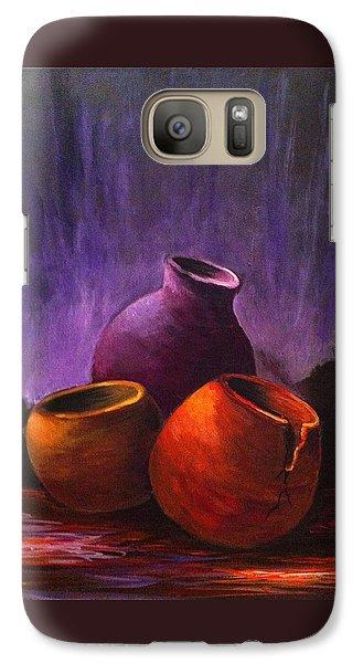 Galaxy Case featuring the painting Old Pots 2 by Bozena Zajaczkowska