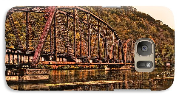 Galaxy S7 Case featuring the photograph Old Railroad Bridge With Sepia Tones by Jonny D