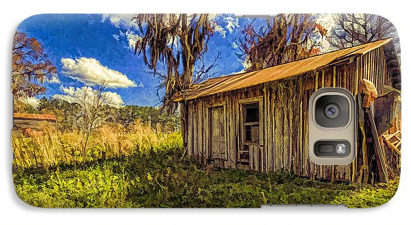 Galaxy Case featuring the photograph Old Ranch Hand Shack by Lewis Mann