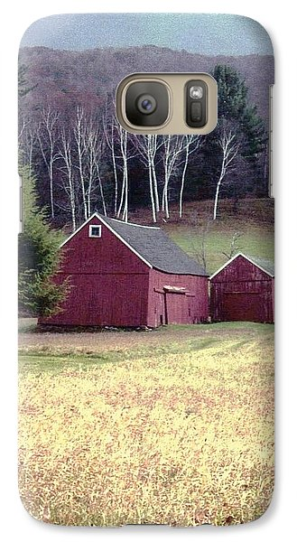 Galaxy Case featuring the photograph Old Red Barn by John Scates