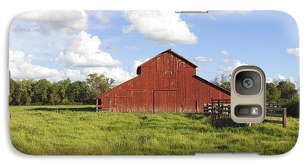 Galaxy Case featuring the photograph Old Red Barn by Mark Greenberg