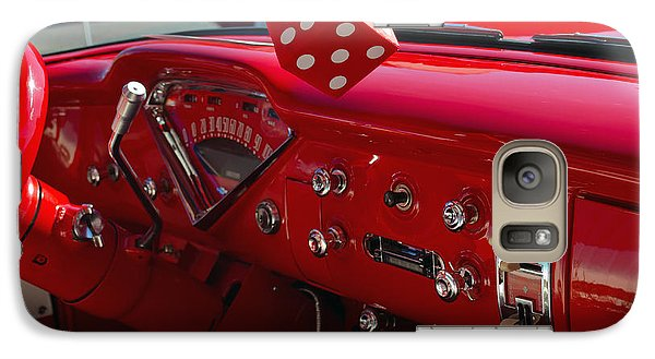 Galaxy Case featuring the photograph Old Red Chevy Dash by Tikvah's Hope