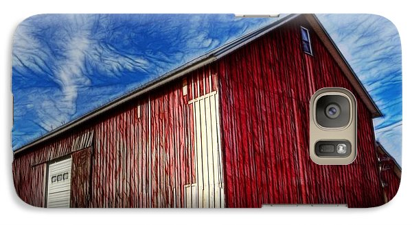 Galaxy Case featuring the photograph Old Red Wooden Barn by Jim Lepard