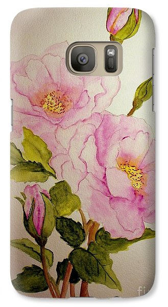 Galaxy Case featuring the painting Old Roses From The Garden by Carol Grimes