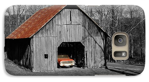 Galaxy Case featuring the photograph Old Rusty Barn  by Donald Williams