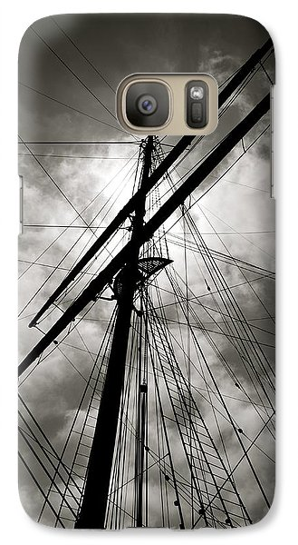 Galaxy Case featuring the photograph Old Sailing Ship by Alex King