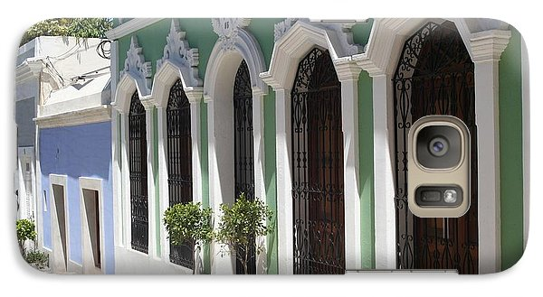 Galaxy Case featuring the photograph Old San Juan Street by The Art of Alice Terrill