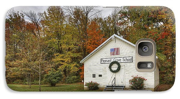Galaxy Case featuring the photograph Old School House At Panther Creek by Wendell Thompson
