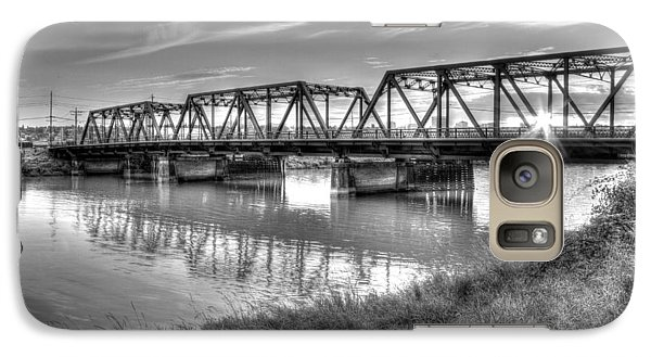 Galaxy Case featuring the photograph Old School Sunset On Lincoln Ave. Bridge  by Rob Green