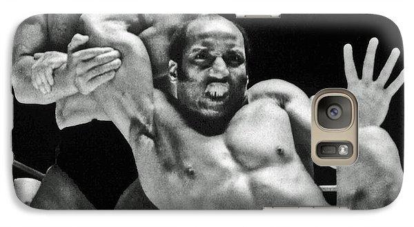 Galaxy Case featuring the pyrography Old School Wrestling Arm Lock By Tony Rocco On Sir Earl Maynard by Jim Fitzpatrick