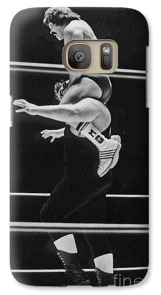 Galaxy Case featuring the photograph Old School Wrestling Piggyback Ride II With Mando Guerrero  by Jim Fitzpatrick