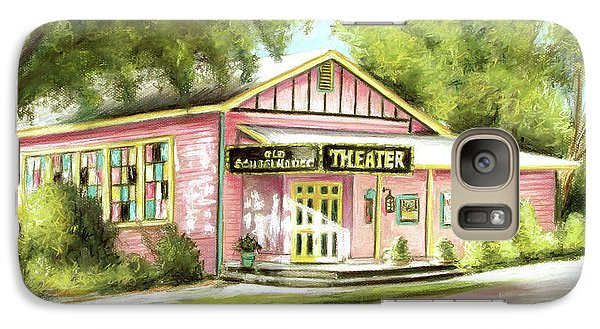 Galaxy Case featuring the painting Old Schoolhouse Theater On Sanibel Island by Melinda Saminski