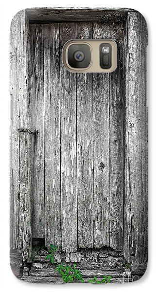Galaxy Case featuring the photograph Old Shed Door by Marion Johnson