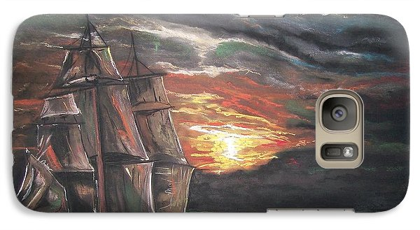 Galaxy Case featuring the pastel Old Ship Of The Sea by Peter Suhocke