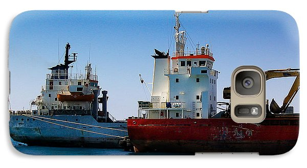 Galaxy Case featuring the photograph Old Ships by Kevin Desrosiers
