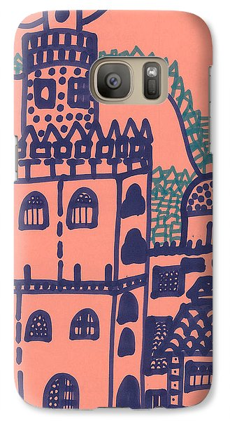 Galaxy Case featuring the drawing Old Spanish Town by Don Koester
