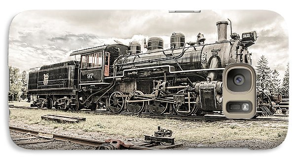 Galaxy Case featuring the photograph Old Steam Locomotive No. 97 - Made In America by Gary Heller