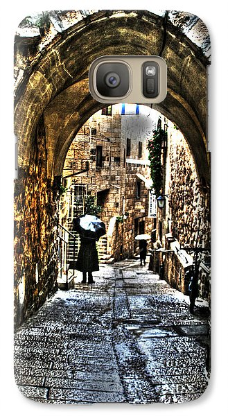 Galaxy Case featuring the photograph Old Street In Jerusalem by Doc Braham