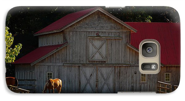 Galaxy Case featuring the photograph Old-style Horse Barn by Jordan Blackstone