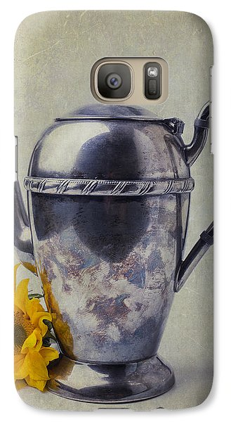 Old Teapot With Sunflower Galaxy Case by Garry Gay