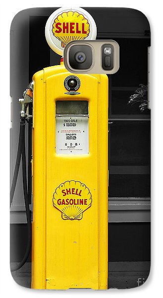 Galaxy Case featuring the photograph Old Time Gas Pump by David Lawson