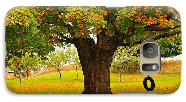 Galaxy Case featuring the photograph Old Tire Swing by Terri Gostola