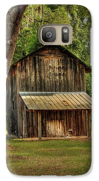 Galaxy Case featuring the photograph Old Tobacco Barn by Donald Williams