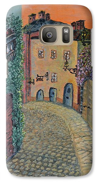 Galaxy Case featuring the painting Old Town In Piedmont by Felicia Tica