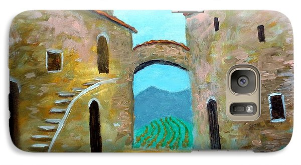 Galaxy Case featuring the painting Old Town Of Tuscany by Larry Cirigliano