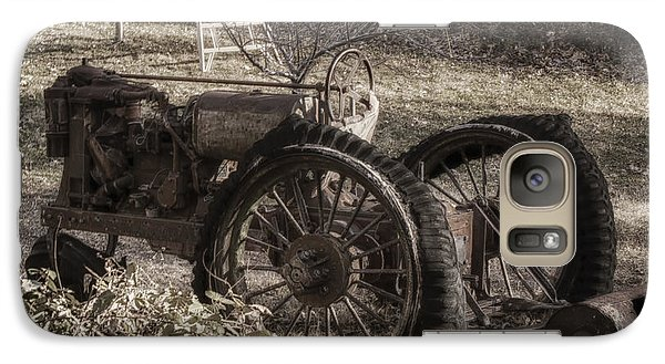Galaxy Case featuring the photograph Old Tractor by Lynn Geoffroy