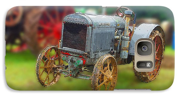 Galaxy Case featuring the photograph Old Tractor Print by B Wayne Mullins