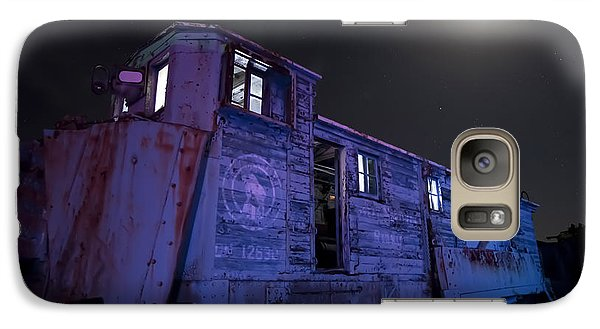 Galaxy Case featuring the photograph Old Train Trail Snow Plow by Keith Kapple
