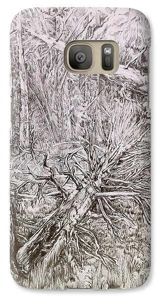 Galaxy Case featuring the drawing Old Tree by Iya Carson