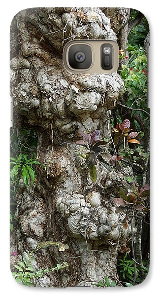 Galaxy Case featuring the mixed media Old Tree by Rafael Salazar